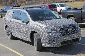 2018 subaru ascent. exellent 2018 2018 subaru ascent 3row crossover suv spied in detail with subaru ascent l