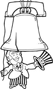 Small Picture Uncle Sam and Liberty Bell coloring page Free Printable Coloring
