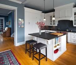 blue kitchen wall colors. Modren Blue Kitchen Bright Blue Walls White Cabinets Subway Tile Absolute Black  Granite Counters  Decorating Ideas Pinterest Black Granite Blue Walls And  Inside Kitchen Wall Colors