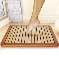 Bamboo Vanity Bathroom New Amazon Bamboo Wood Bathroom Bath Mat Heavy Duty Natural Or
