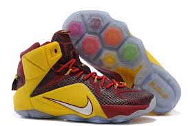 lebron james shoes 12. lebron james 12 nike blue wine red yellow basketball shoes j