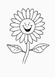 Small Picture Cartoon of Laughing Daisy Flower Coloring Page Download Print