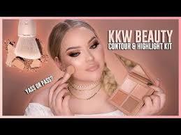 kim kardashian kkw beauty powder contour highlight kit review