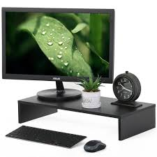 fitueyes computer monitor riser desktop laptop monitor screen stand with storage