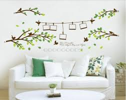 tree frame birds branch leaves diy removable wall home art decor