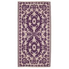 wipeable funky rugs deep violet