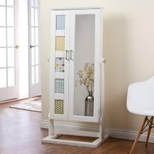 white floor mirror. Unique White Framed Beveled Floor Mirror Idea With Legs Aside Vintage Chair On Wooden Beneath