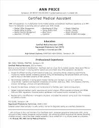 Medical Resume Template Fascinating Certified Medical Assistant Resume Template Medical Assistant