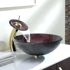 sink c glass vessel sink and waterfall c glass vessel sink and waterfall vessel sinks vessel sink reviews kraus vessel sink and waterfall faucet combo