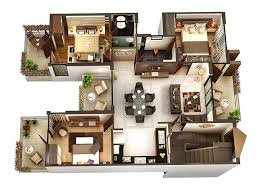 50 three 3 bedroom apartment house plans bedroom apartment