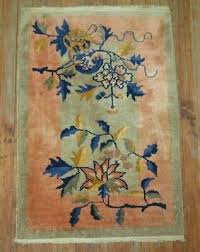 antique chinese art deco rug size 2 x3