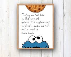 Cookie Quotes Stunning Cookie Monster Quote 448 X 448 Or 48 X 48 PHYSICAL Wall Art Etsy