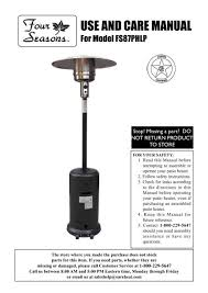 fs87phlp patio heater manual sure