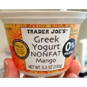 trader joe s greek yogurt non fat mango nutrition