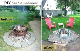patio homemade patio fire pit making an outdoor natural logs building a seating outside