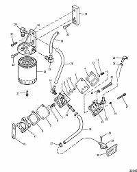 22345 mercury marine v 200 hp xri (efi) fuel pump & fuel filter parts on mercury 200 outboard fuel filter