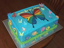 Butterfly Birthday Cake Template Printable