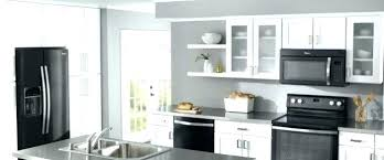 kitchens with white cabinets and black appliances. White Kitchen Cabinets With Black Appliances And . Kitchens L