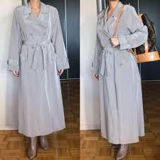 Utex Design Long Coat Vintage Oversized Utex Design Trench Coat Womens Fashion