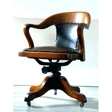 wooden swivel office chair. Vintage Wooden Desk Chair Antique Swivel Solid Oak With Arm  School Office F