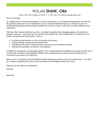 Certified Nursing Assistant Cover Letter Examples Stibera Resumes