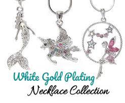 whole whitegold pendant necklace