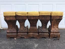 polynesian furniture. Polynesian Furniture. Witco Style Wood Bar Stools - Set Of 5 Image 6 Furniture