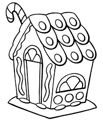Gingerbread House Coloring Pages Free Download Best Gingerbread