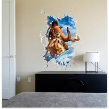 Small Picture Most Popular Movie Ice Age 3D Wall Sticker Online Shopping