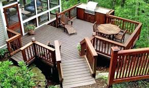 Backyard Deck Design Ideas Enchanting Beautiful Backyard Deck With Furniture Wooden Decks Images Wood