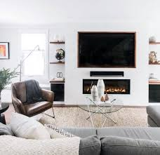 Living rooms tv Small Home Design Ideas Tv Wall Above Modern Gas Fireplace Next Luxury Top 70 Best Tv Wall Ideas Living Room Television Designs