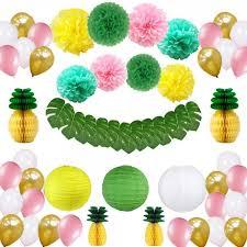 tropical hawaiian decorations supplies pineapple