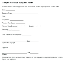 Days Off Request Form Template Sample Time Off Request Form Threeroses Us