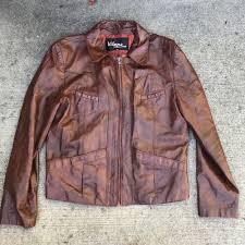 details about vintage leather jacket 1970s wilson pocket medium