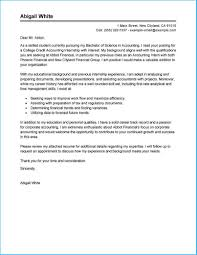 New Accounting Internship Cover Letter To Design Cover