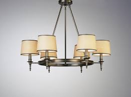 breathtaking drum chandelier shades fabric hanging position with six lights