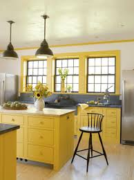 Yellow Paint For Kitchen Walls Kitchen Yellow Color With Kitchen Cabinet Also Wall Paint Inner