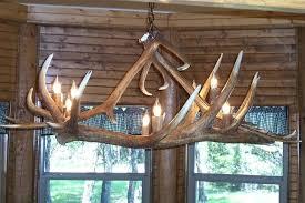 elk antler chandelier 4 dining room table light made from 2 very large antlers along the elk antler chandelier