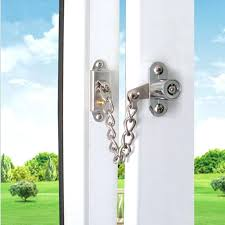 full image for 5pcs chain guard door bolt lock children safety security swing gate window latch