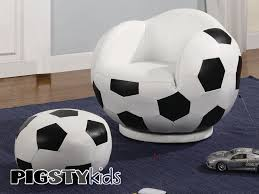 Small Bedroom Chair With Ottoman Soccer Theme Rooms Small Kids Soccer Chair With Ottoman Boys