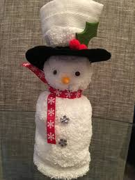Holiday Time Light Up Led Fluffy Snowman Instructions Face Cloth Snowman Xmas Crafts Christmas Crafts Towel Crafts