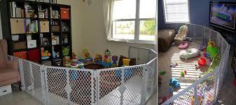 north states superyard play yard as a safety gate