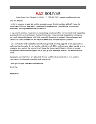 Sample Cover Letter For Administrative Assistant Leading Professional Grants Administrative Assistant Cover