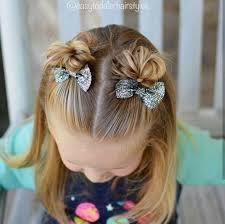 Bow On Pigtail Poofs Vlasy Dívčí účesy Dívky A účesy