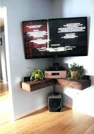 diy corner shelf corner tv wall mount