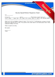 security deposit return letter template sle refund request form exle