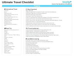 Travel Packing List Template To Do Word Pdf Journey Free Microsoft