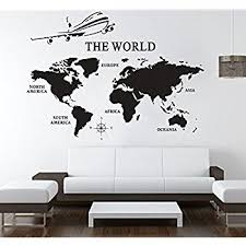 office wall stickers. Large World Map Wall Decals Vinyl Art Sticker Office Decor Home Stickers W