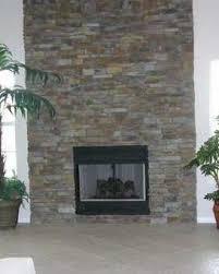 Grey Stacked Stone Walls GalleryStacked Stone Veneer Fireplace