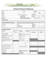 Microsoft Word Personal Financial Statement Doc
